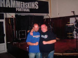 Thomas Gerlach bei Hammerskin Konzert in Portugal